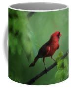 Red Bird On A Hot Day Coffee Mug