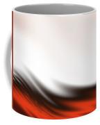 Red, Black And White Waves Coffee Mug