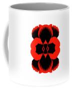 Red Black Botanical Summer Coffee Mug