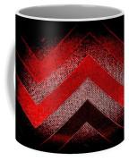 Red Black Chevron Coffee Mug