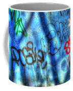 Red, Blue, And Black Tags Coffee Mug
