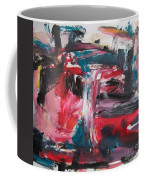 Red Blue Black Abstract Coffee Mug