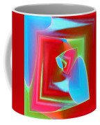 Red Blue Cubed Coffee Mug