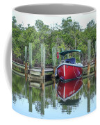 Red Boat Docked Florida Coffee Mug