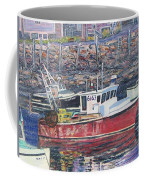 Red Boat Reflections Coffee Mug
