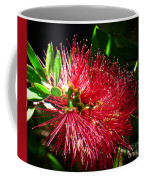 Red Bottle Brush Coffee Mug