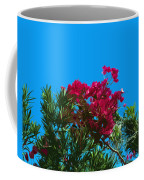 Red Bougainvillea Glabra Vine In Juniperus Virginiana Tree In Co Coffee Mug