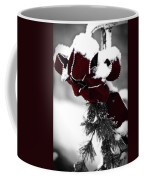 Red Bow In Snow Coffee Mug