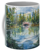 Red Bridge On Lake In The Ozarks Coffee Mug