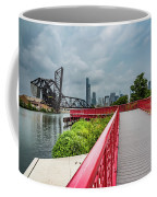 Red Bridge To Chicago Coffee Mug