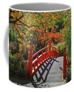 Red Bridge With Shadows Coffee Mug