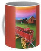 Red Buckboard Wagon Coffee Mug