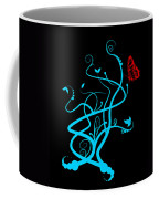 Red Butterfly And Vine Coffee Mug