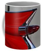 Red Cadillac Fin Coffee Mug