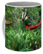 Red Canoe In The Adk Coffee Mug