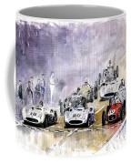 1954 Red Car Maserati 250 France Gp Coffee Mug by Yuriy Shevchuk