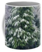 Red Cedar And Snow Coffee Mug