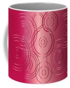 Red Circle Background Coffee Mug