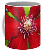 Red Clematis Coffee Mug