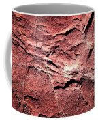 Red Colored Limestone With Grooves Coffee Mug