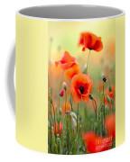 Red Corn Poppy Flowers 06 Coffee Mug by Nailia Schwarz