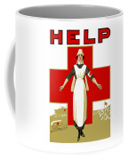 Red Cross Nurse - Help Coffee Mug