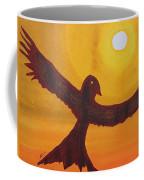 Red Crow Repulsing The Monkey Original Painting Coffee Mug