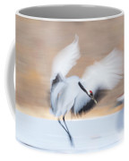 Red Crowned Crane In Kushiro Coffee Mug