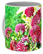 Red Dahlias Coffee Mug