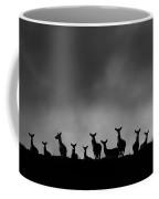 Red Deer On The Hill Coffee Mug