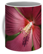 Red Disco Belle Hibiscus Painting Coffee Mug