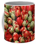 Red Elegant Blooming Tulips  Coffee Mug