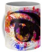 Red Eye Watercolor Coffee Mug