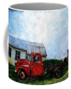 Red Farm Truck Coffee Mug