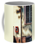 Red Fire Box With Window, Shadows And Gutter Coffee Mug