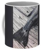 Red Fish Painted Black Coffee Mug