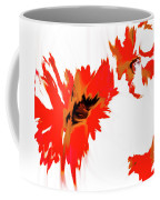 Red Floating Florals Coffee Mug