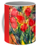 Red Floral Abstract Coffee Mug