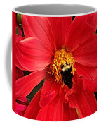 Red Flower And Bee Coffee Mug