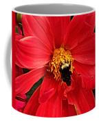 Red Flower And Bee Coffee Mug