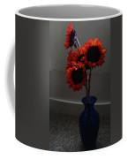 Red Flower Blue Vase Coffee Mug
