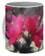 Red Flowered Peach Coffee Mug