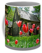 Red Flowers In Central Park Coffee Mug