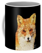 Red Fox Abstract Coffee Mug