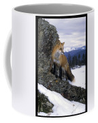 Red Fox In The Mountains Coffee Mug