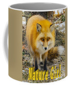 Red Fox Nature Girl Coffee Mug