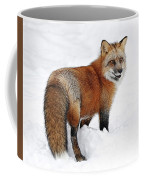 Red Fox Winter Coffee Mug