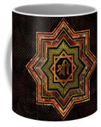 Red Gemstone And Gold  Star Of Lakshmi -  And Sri Coffee Mug