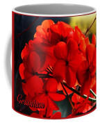 Red Geranium Coffee Mug