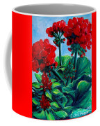 Red Geraniums Coffee Mug